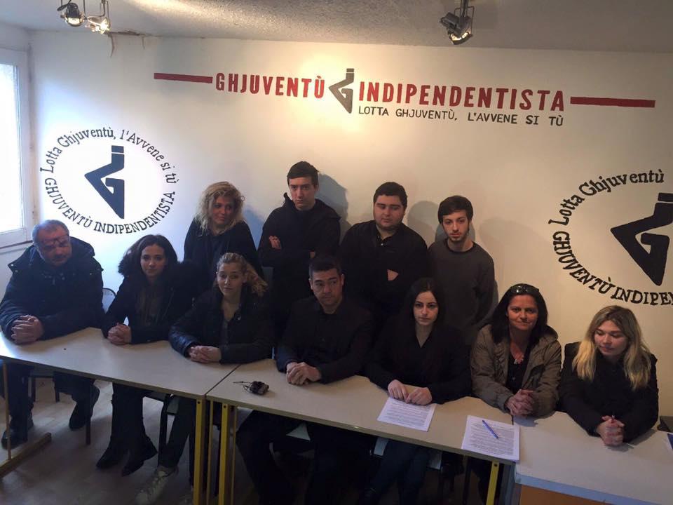 Ghjuventù Indipendentista (Corsa) – Conferenza stampa del 13/01/2017