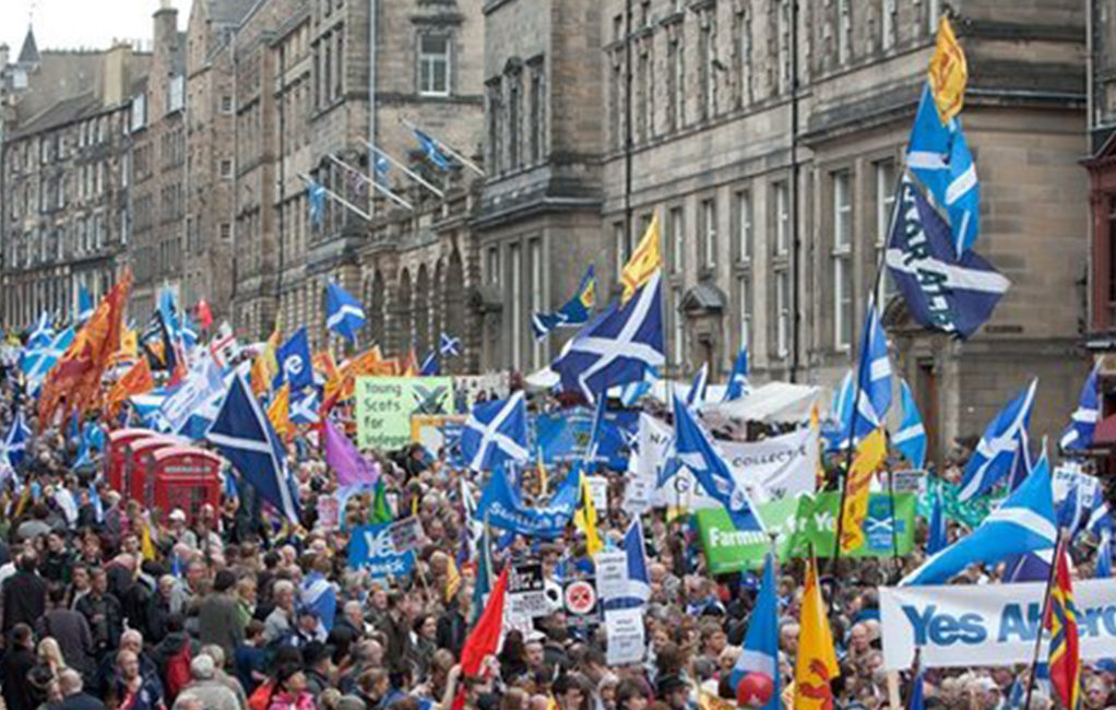 manifestazione scozia