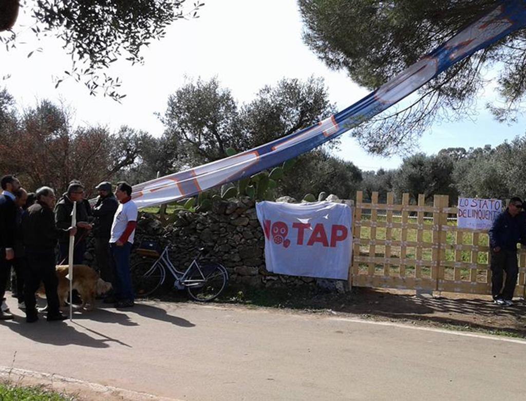 blocco a melendugno contro gasdotto tap