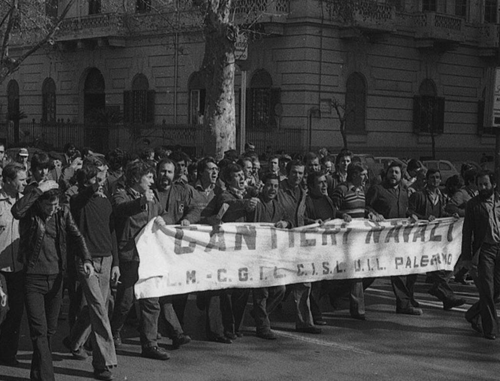 Sciopero ai Cantieri Navali di Palermo