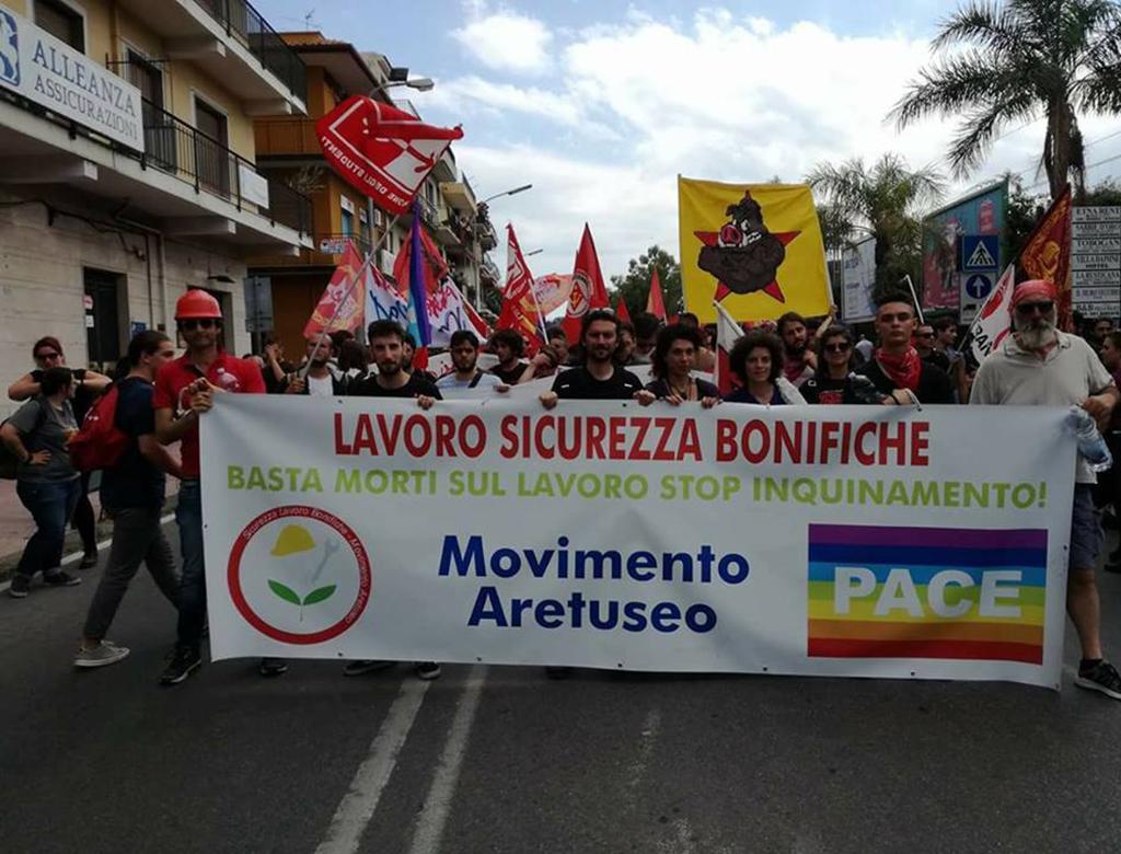 Siracusa: 19 maggio, corteo contro le nocività e le morti sul lavoro.