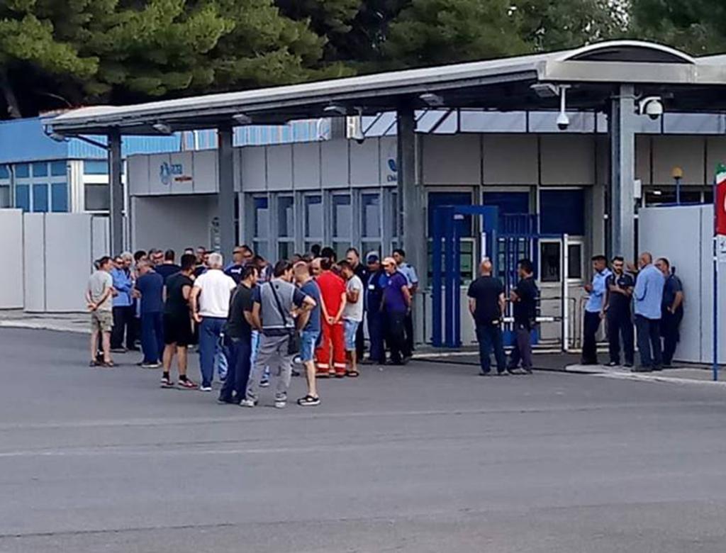 Sciopero dell'indotto alla centrale A2A di San Filippo del Mela (ME).