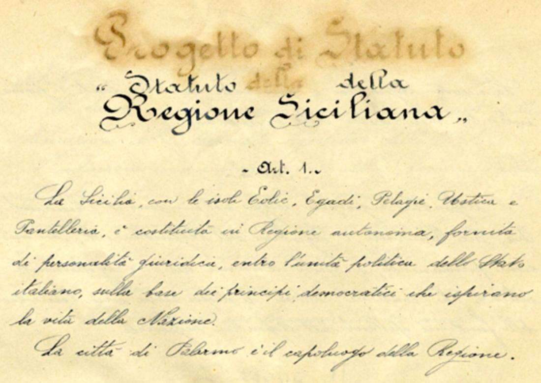 Lo Statuto di Musumeci e il nostro.
