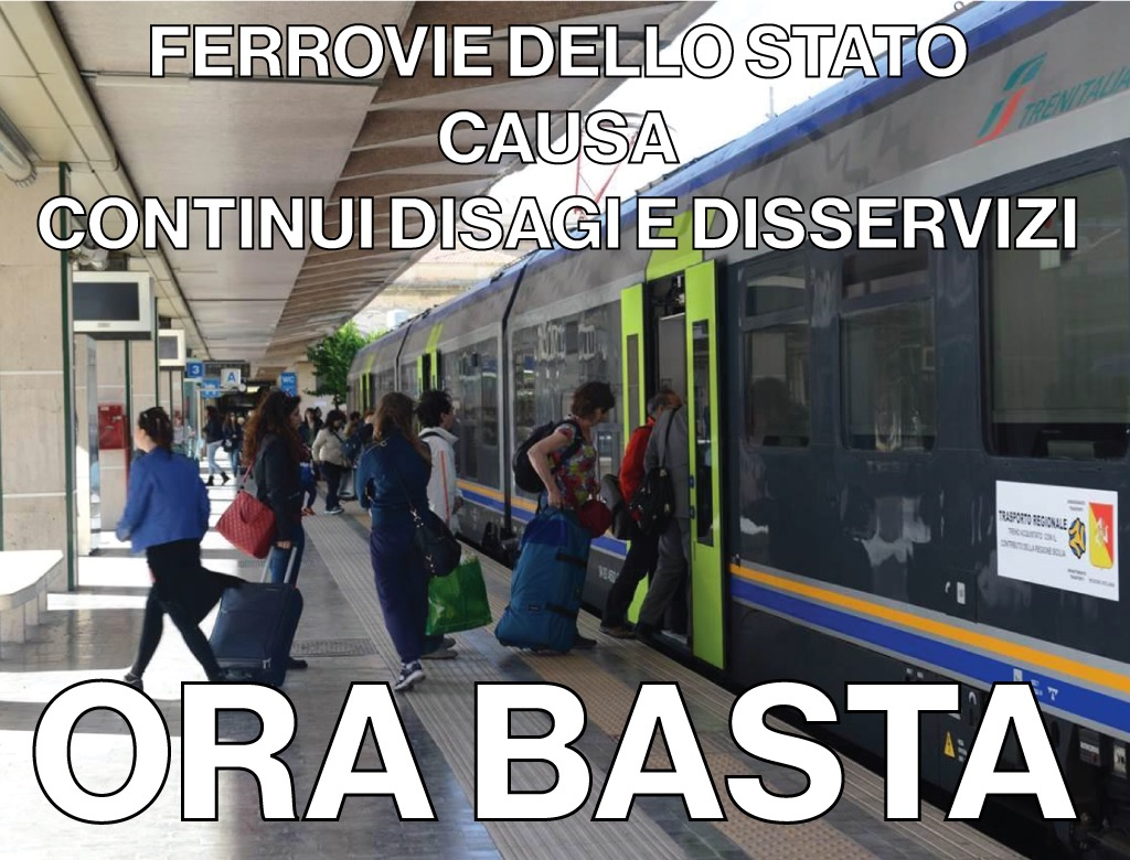 Ferrovie dello Stato in Sicilia: continui disagi e tratte interrotte