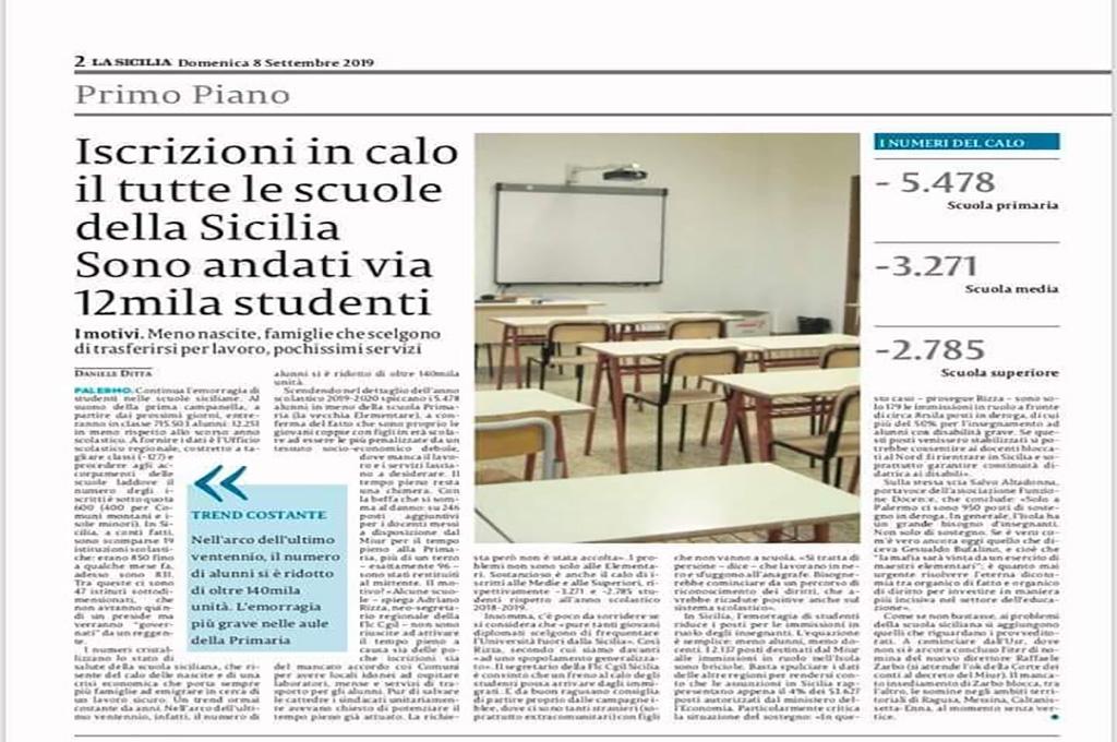 Il dramma delle scuole siciliane. Via 12mila studenti
