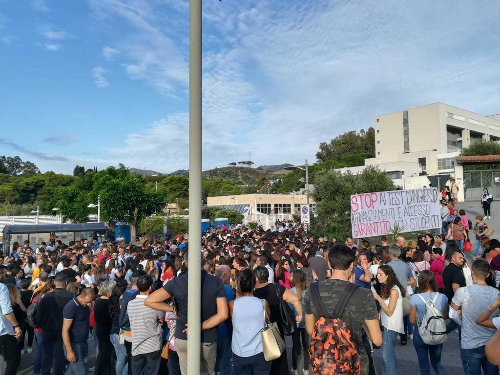 Università di Messina: protesta contro i test d'ingresso