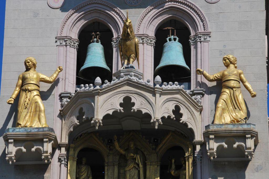 Il Campanile del Duomo di Messina. La parte superiore