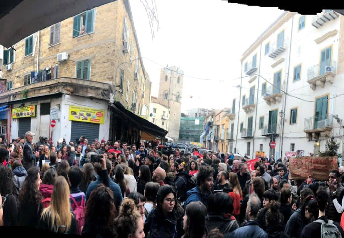Palermitani in piazza, Salvini in questura