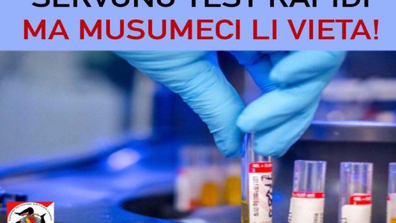 Covid-19: servono test rapidi, ma Musumeci li vieta