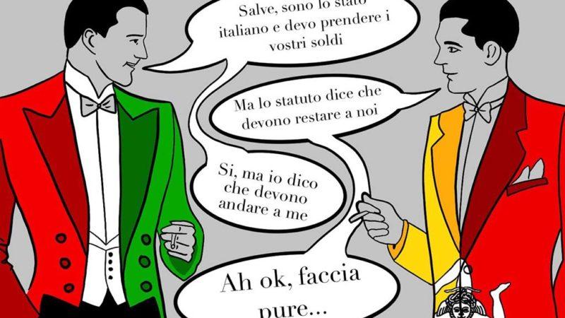 Lo Statuto, l'autonomismo e i furti dello Stato Italiano
