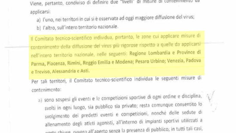 I verbali del comitato tecnico scientifico: lo Stato italiano ha sacrificato il Sud e la Sicilia