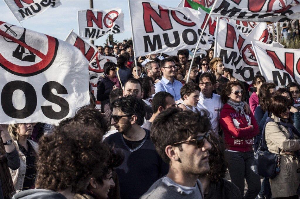 8 Agosto, Niscemi. Manifestazione regionale No Muos