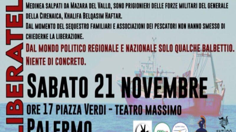 """""""Liberateli"""": domani in piazza a Palermo per chiedere la liberazione dei pescatori siciliani in Libia"""