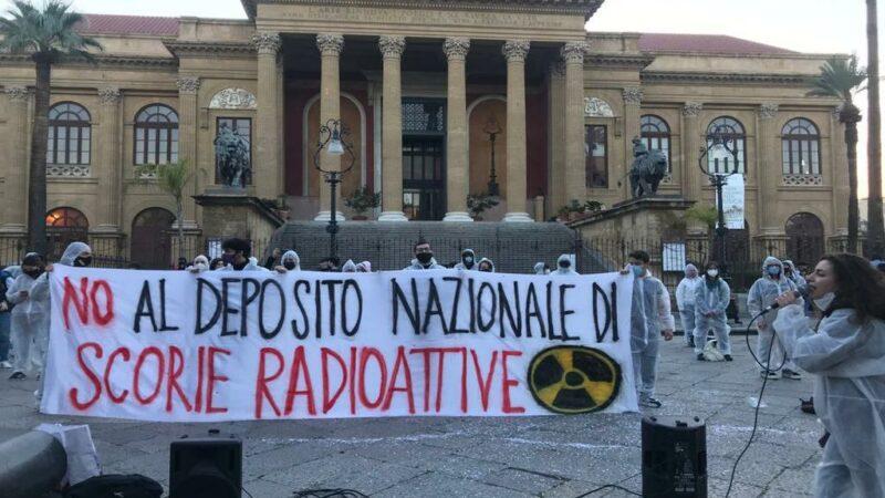 Palermo: flash mob contro il deposito nucleare