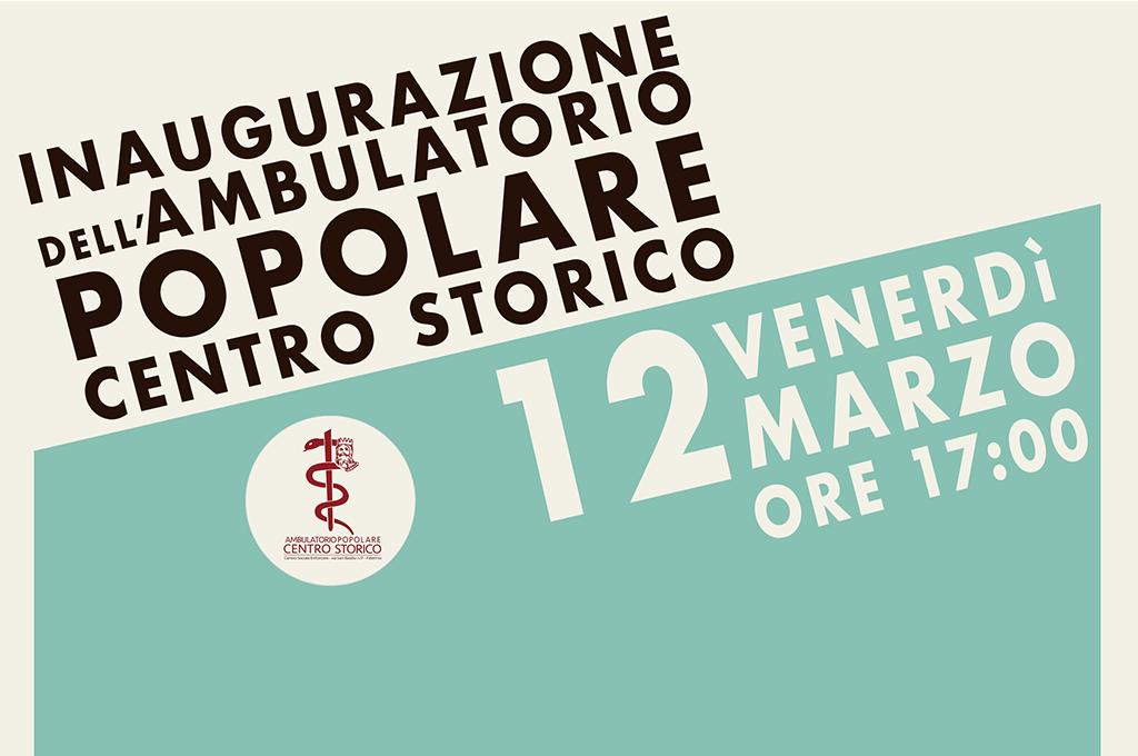 Palermo: domani l'inaugurazione dell'Ambulatorio Popolare Centro Storico