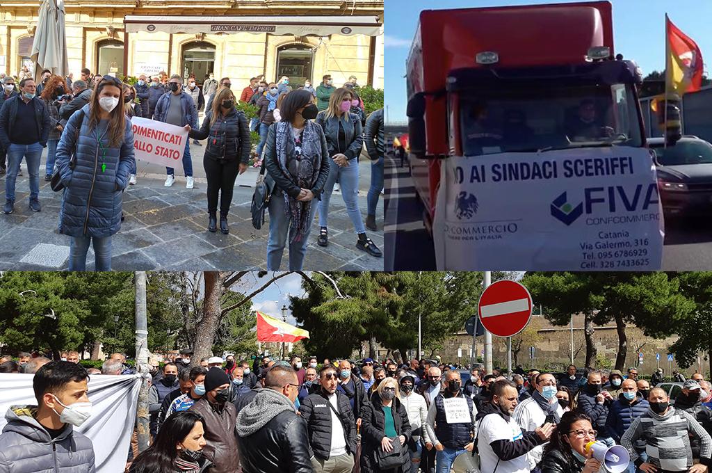 Sicilia, blocchi stradali contro i provvedimenti dei governi