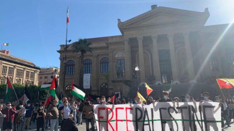 In centinaia a Palermo con la Palestina che resiste