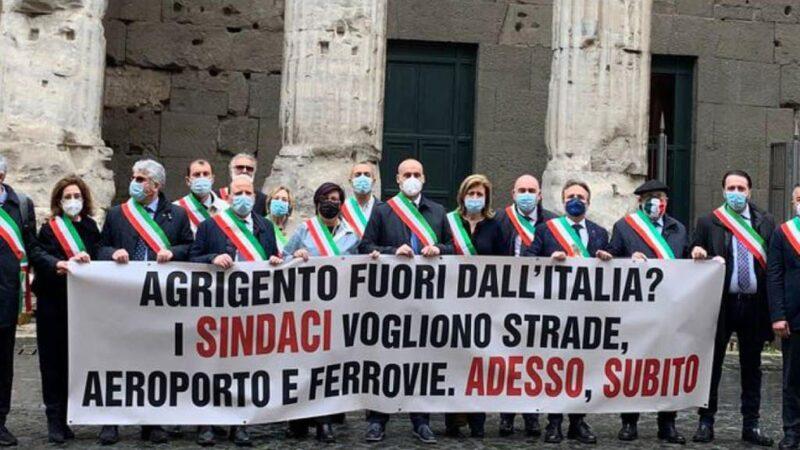 La protesta dei sindaci dell'agrigentino insoddisfatti dal PNRR