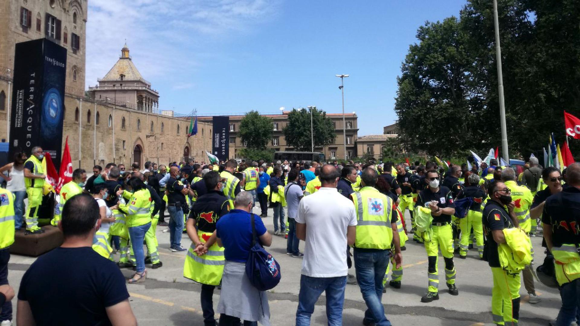 Sciopero degli operatori del 118: manifestazione a Palermo