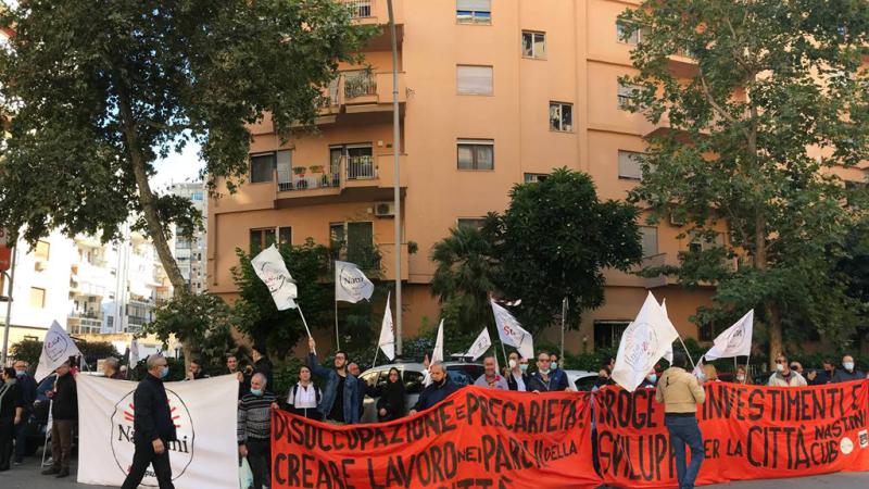 Palermo: presidio dei Nastrini presso l'Assessorato regionale del lavoro